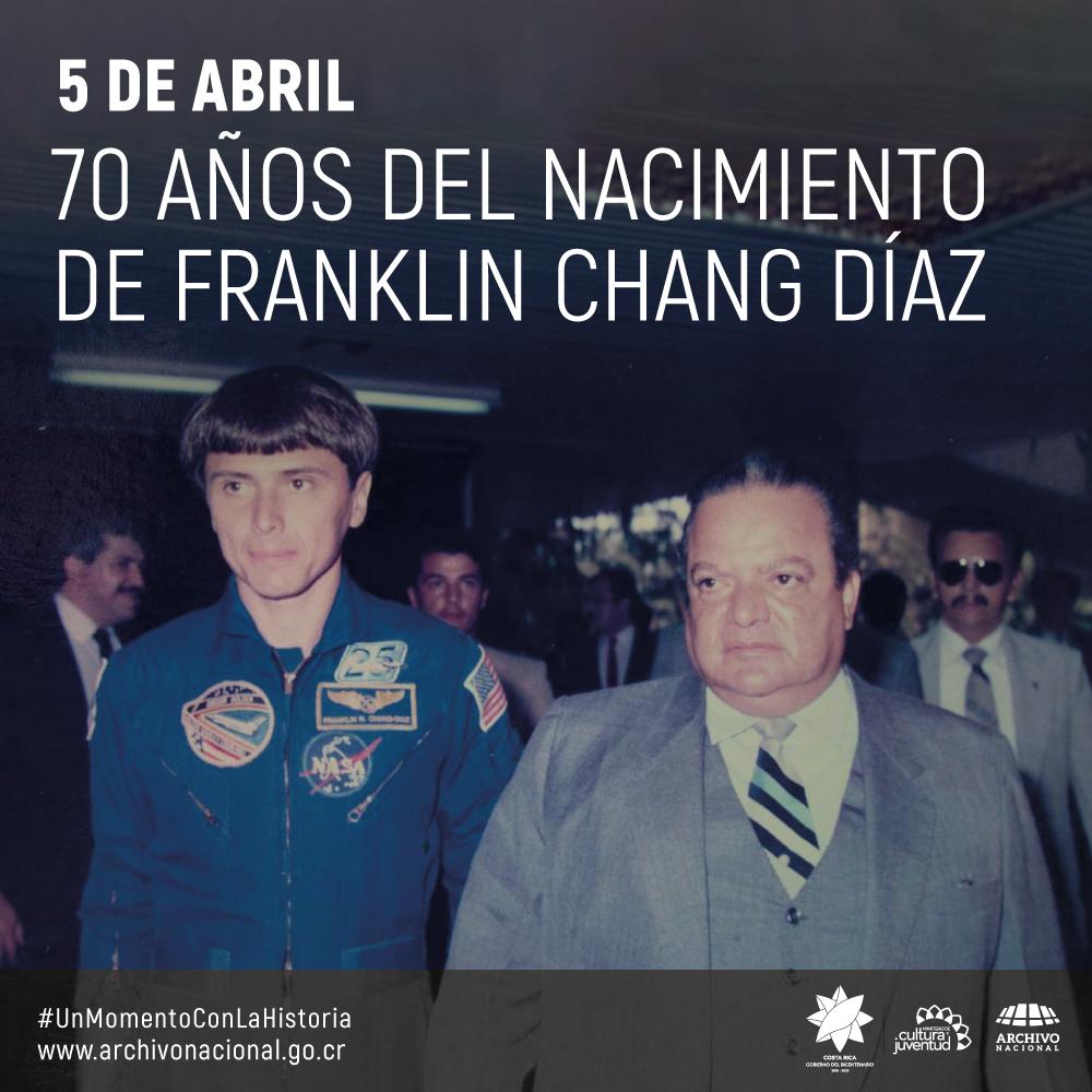 Imagen de Kranklin Chang la primera con el expresidente Luis Alberto Monge