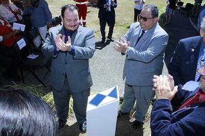 Foto donde aparecen autoridades del Ministerio de Cultura y Juventud, Cruz Roja Costarricense y el Archivo Nacional