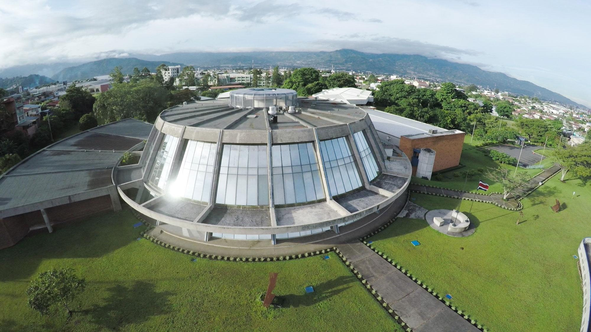 Foto aérea del edificio del Archivo Nacional